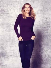 Womens Purple Long Sleeve Top