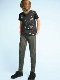 Older Boys Black Splatter T-Shirt