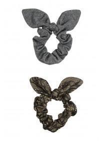 Womens 2PK Metallic Scrunchie