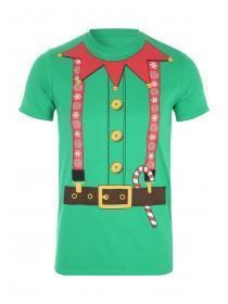 Mens Short Sleeve Christmas Elf T-Shirt