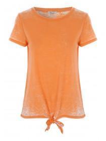 Womens Orange Knot Burnout T-Shirt