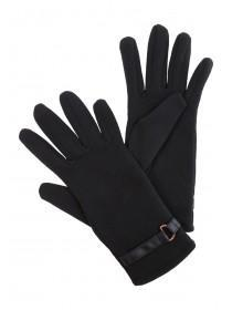 Womens Ponti Black Gloves