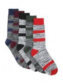 Mens 5pk Grey Socks