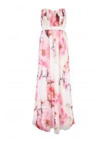 Jane Norman Pink Floral Maxi Dress with Detachable Straps