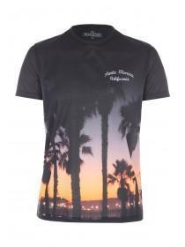 Mens Black Sunset Sublimation T-Shirt
