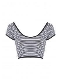 Jane Norman Monochrome Stripe Crop Top
