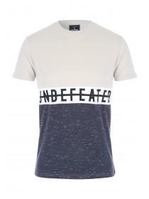 Mens Cream Undefeated Cut N' Sew T-Shirt