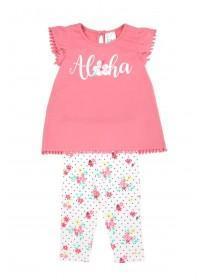Baby Girls Pink Aloha Top & Leggings Set