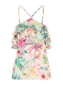 Jane Norman Floral Print Ruffle Strappy Top