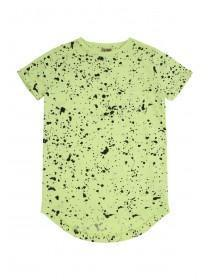 Older Boys Fluorescent Green Paint Splat T-Shirt