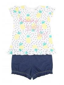 Baby Girls Pineapple Top & Shorts Set
