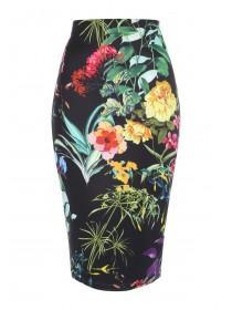 Jane Norman Floral Printed Pencil Skirt