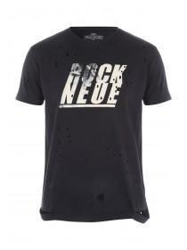 Mens Grey Rock Neue Rip Chest T-Shirt