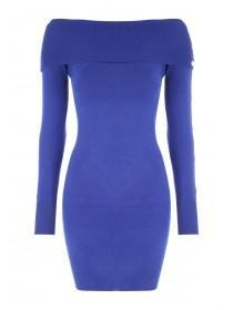 Jane Norman Blue Bardot Jumper Dress