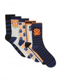 Boys 5pk Navy Socks
