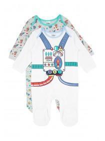 Baby Boys 2PK Sleepsuits