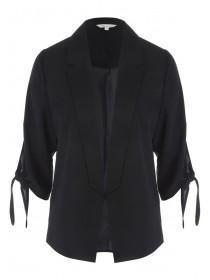 Womens Black Tie Sleeve Jacket