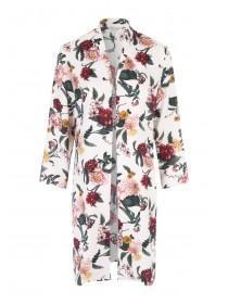 Womens Floral Longline Kimono