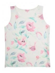 Older Girls Lazer Cut Printed Vest