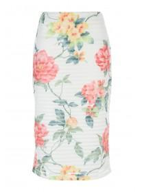 Womens ENVY White Printed Skirt