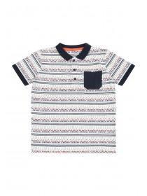 Younger Boys Aztec Stripe Polo Shirt