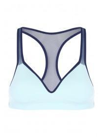 Older Girls Aqua Blue Mesh Back Crop Top