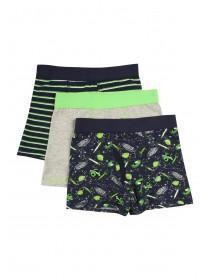 Younger Boys 3pk Space Trunks