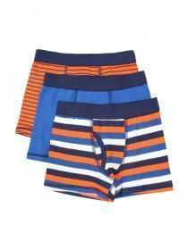 Boys 3pk Stripy Trunks