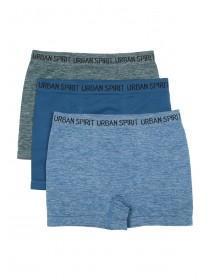 Boys 3pk Blue Seamfree Boxers