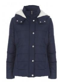Womens Blue Lined Coat