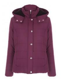Womens Purple Lined Coat