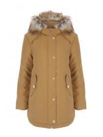 Womens Tan Parka Coat