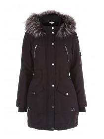 Womens Black Parka Coat