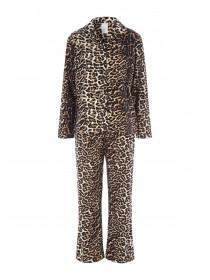 Womens Leopard Pyjama Set