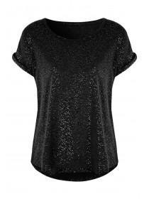 Womens Black Viscose Pyjama Top
