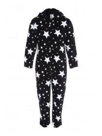 Mens Black Star Onesie
