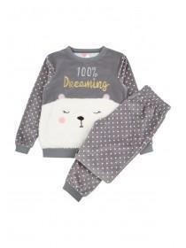 Girls Grey Bear Pyjamas