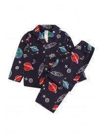 Younger Boys Dark Blue Space Pyjama Set