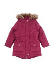 Younger Girls Pink Padded Parka
