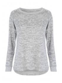 Womens Grey Soft Touch Top