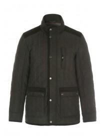 Mens Brown Quilted Coat