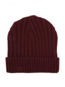 Mens Purple Chunky Rib Hat