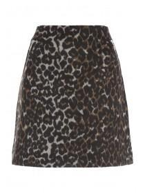 Womens Animal Print Skirt