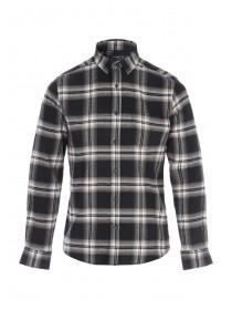 Mens Black Check Flannel Shirt