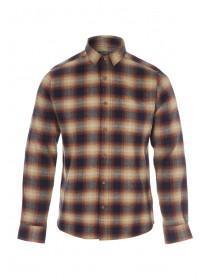 Mens Mustard Check Flannel Shirt