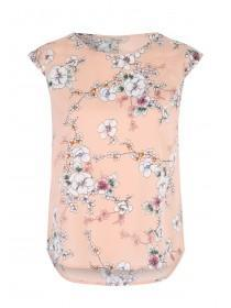 Womens Pale Pink Pleated Back Top