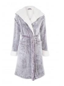 Womens Purple Fluffy Dressing Gown