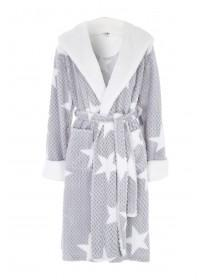 Womens Grey Star Dressing Gown