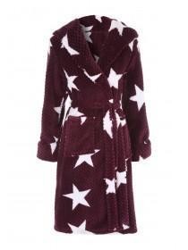 Womens Purple Star Dressing Gown