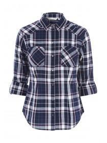 Womens Blue Check Shirt